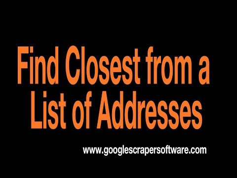 Find Closest address given multiple addresses in excel