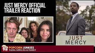 Just Mercy (OFFICIAL TRAILER) - Nadia Sawalha &The Popcorn Junkies REACTION
