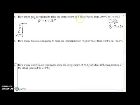 Calculating heat energy with the specific heat equation