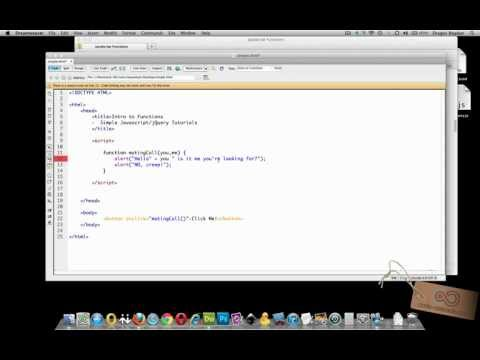 ADDING PARAMETERS to a FUNCTION - Super Simple Javascript/jQuery Tutorials