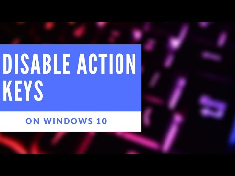 How to- enable or disable action keys on Windows 10