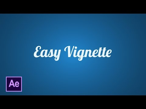 Easy Vignette in After Effects CC