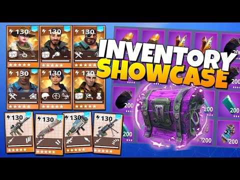 Inventory SHOWCASE! Lvl 130's, SUNBEAM, BRIGHTCORE & MORE! | Fornite Save The World