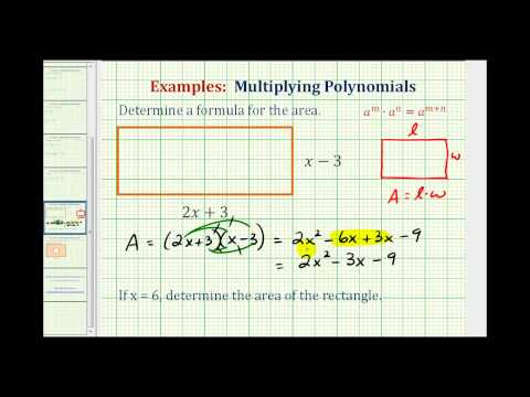 Ex:  Find the Area of a Rectangle Using a Polynomial