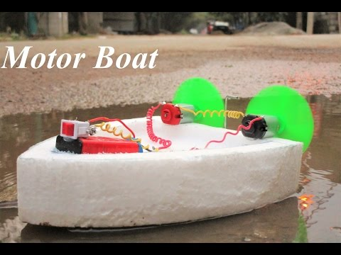 How to make an Electric Boat - double motor boat