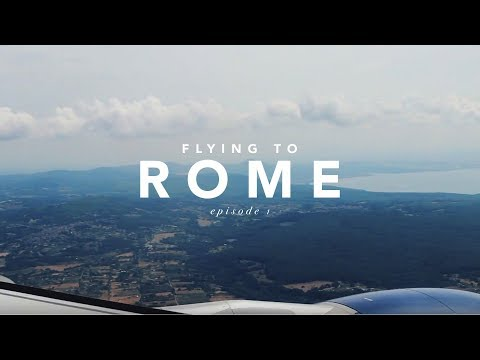 THE ITALY VLOG | Episode 1 • Flying to Rome