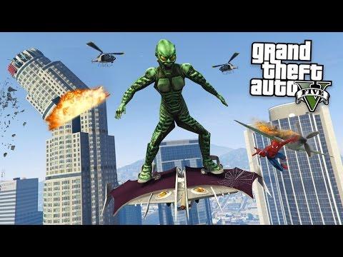 SIPDERMAN´S ERZFEIND! GREEN GOBLIN + GLEITER MOD! GTA 5 Mod Gameplay!