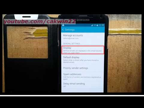 Samsung Galaxy S5 : How to change Email Title line in list (Android Phone)