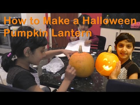 How To Make A Scary Halloween Pumpkin Lantern For Kids