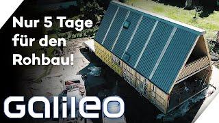 Ein Haus zum Auf- & Zuklappen: Bezugsbereit in nur 14 Tagen!? | Galileo | ProSieben