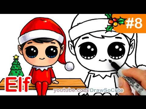 How to Draw an Elf on the Shelf Easy and Cute