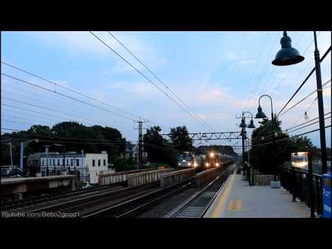 Amtrak/MNCR: AEM7 / M8 Side-By-Side Train Race at Mamaroneck RR