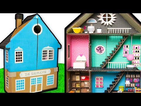 How to Paint the Outside of the Cardboard House - Part 5/6  | DIY Houses on Box Yourself