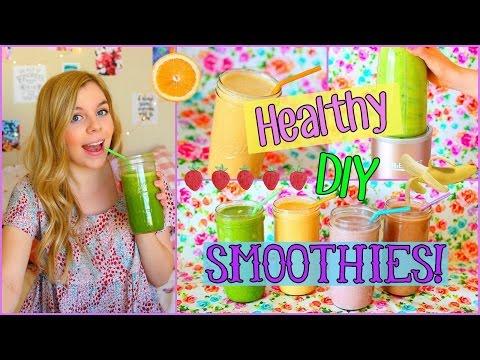 4 Healthy & Easy DIY Smoothie Recipes!