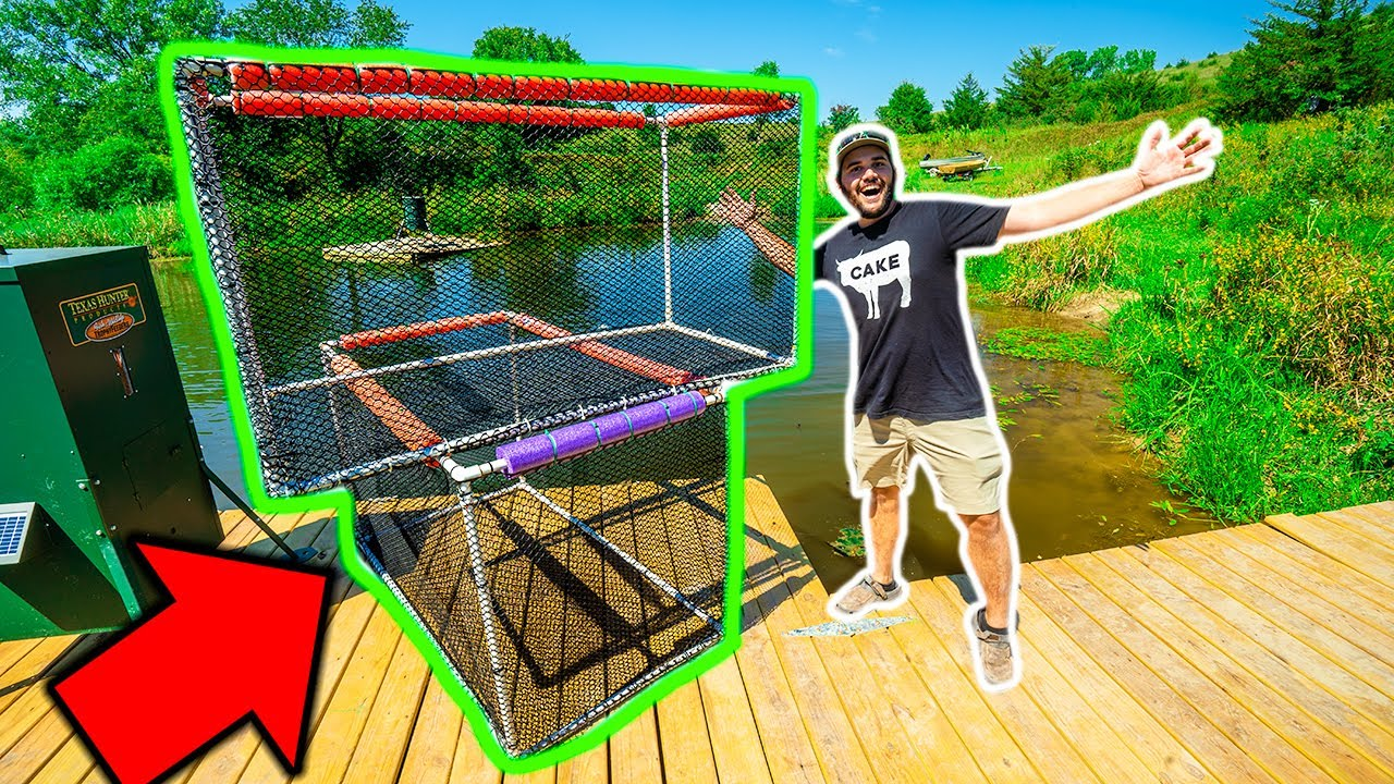 Building a HOMEMADE FISH HATCHERY in My BACKYARD POND!!!! (Will it Work?)