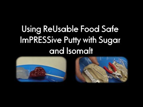 How to Mold Sugar Shape and Lollipops with Isomalt and Pulled Sugar