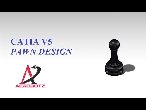 PAWN -chess coin design in CATIA V5
