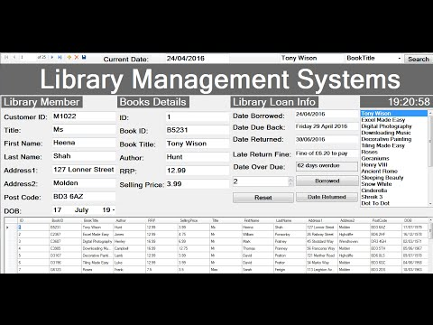 How to Create Library Management Systems with database in Visual Basic.Net