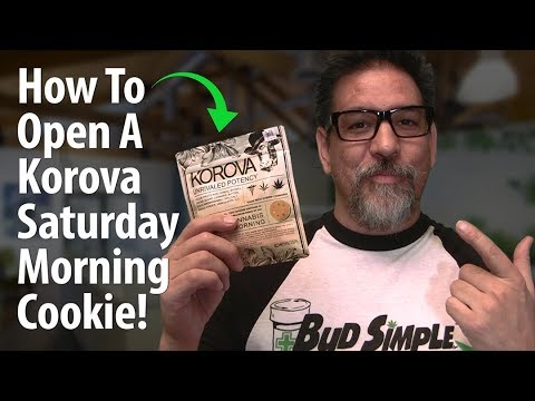 Navigate Child Proof Edible Packaging:  How to Open A Korova Saturday Morning Cookie!
