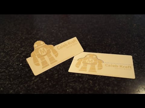 Laser Cut and Engraved Business Cards