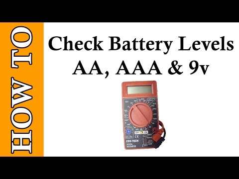 How to test battery with Multimeter from Harbor Freight Cen Tech Digital Multimeter