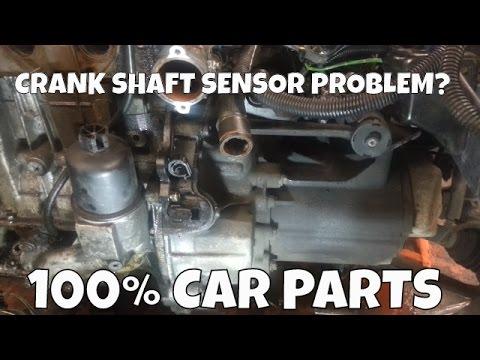 How to Change Replace Crank Shaft Position Sensor Peugeot 206