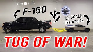1:2 Tesla Cybertruck VS Ford F-150 (TOW TEST!)