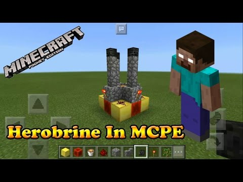 HOW TO SPAWN HEROBRINE IN MINECRAFT PE!!! | 100% REAL | NOT FAKE