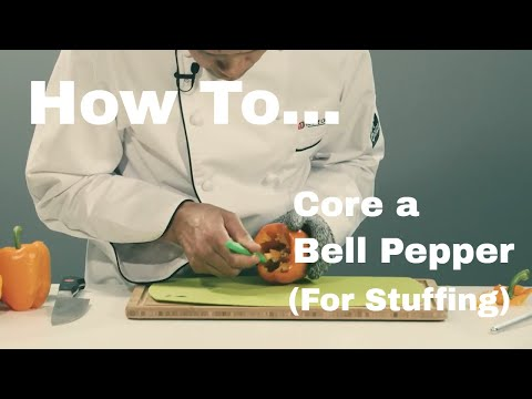 Quick Tip #22 - How to Core a Bell Pepper for Stuffing