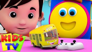 the wheels on the bus go round and round   bus song   baby songs   bob the train   kids tv