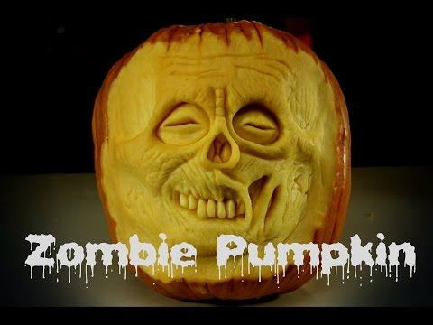 Zombie Pumpkin - Halloween 3D Pumpkin Carving