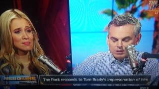 Tom Brady impersonates The Rock and then the Rock