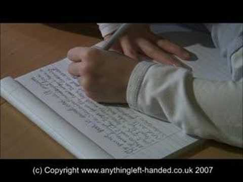 Writing challenges for left handers