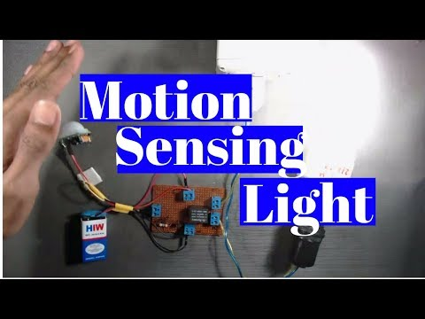 How to make a motion sensor light using PIR sensor Without Microcontroller for home