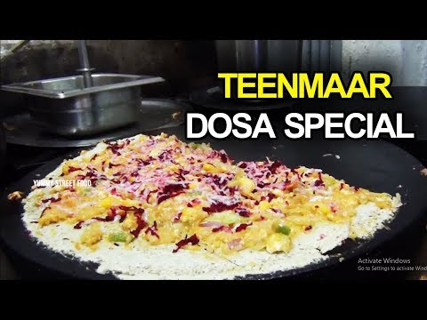Hyderabad Teenmaar Dosa Special | Teenmaar Dosa | Yummy Street Food