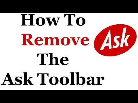 How To Completely Remove The Ask Toolbar From Windows 7
