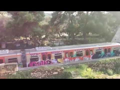 Athens metro line 1 under Acropolis