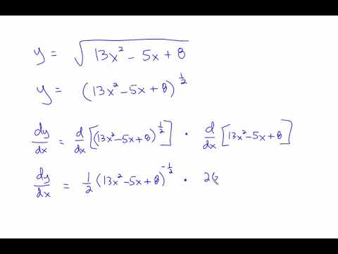 Derivatives with chain rule