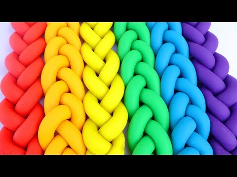 How To Make Clay Doh Braids Rainbow Learn Colors Kids Video Modelling Clay