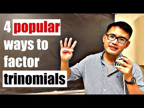4 popular ways to factor trinomials ax^2+bx+c (including slide & divide)
