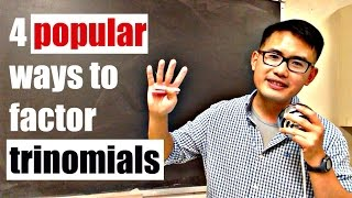 4 Popular Ways To Factor Trinomials Ax2bxc Including Slide Divide