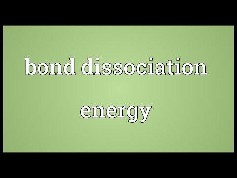 Bond dissociation energy Meaning