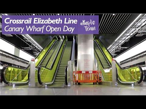 Inside Canary Wharf Crossrail Station