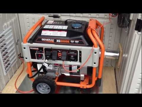 Generac Generator installed in a Suncast Garden Shed for Weatherproofing