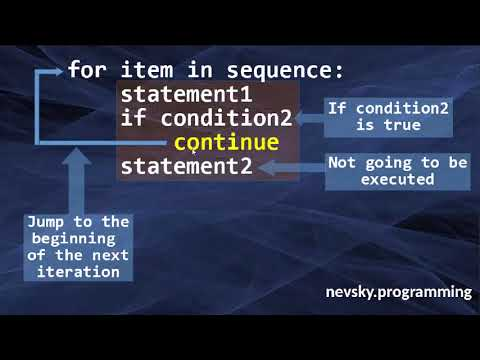 The Continue Statement in Python Language | How to use the continue statement in Python
