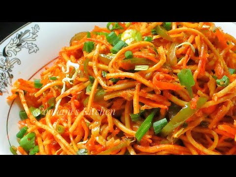 Veg Schezwan Noodles Recipe - Quick and Easy Homemade Schezwan Noodles /How to make Schezwan Noodles