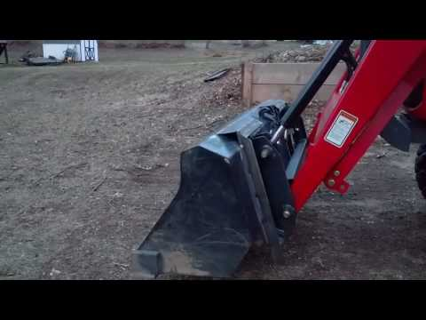 Homemade skid steer Quick Attach adapter and bucket