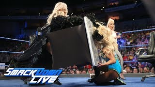 Charlotte Flair & Carmella sign contract for their match at Backlash: SmackDown LIVE, April 24, 2018