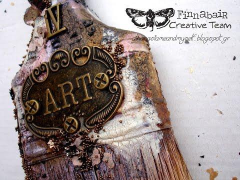 Altered paintbrush - for Finnabair Creative Team