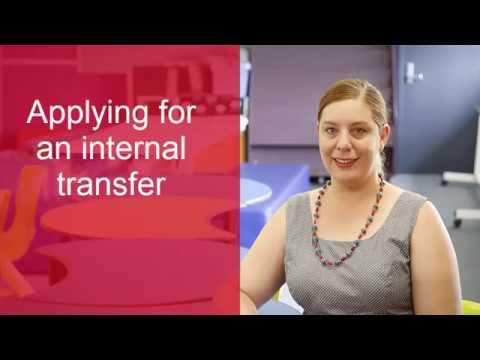 Applying for an internal transfer application